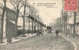 CPA 92 GRAND-MONTROUGE - Porte De Montrouge - Belle Animation Commerces Attelage Et Tramway - Montrouge