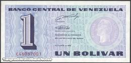 TWN - VENEZUELA 68 - 1 Bolivar 5.10.1989 Prefix C UNC - Venezuela