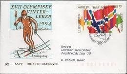 SKI-L98 - NORVEGE FDC Jeux Olympiques D'hiver 1994 - FDC
