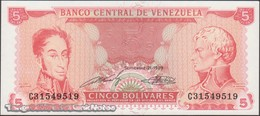 TWN - VENEZUELA 70b - 5 Bolivares 21.9.1989 Prefix C UNC - Venezuela