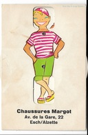 Carte POSTALE Ancienne De ESCH Sur ALZETTE - Carte PUB Chaussures MARGOT, 22 Av. De La Gare - Esch-Alzette