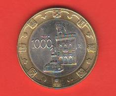 1000 Lire 1997 San Marino Saint Marin Bimetallico Bimetallik - Saint-Marin
