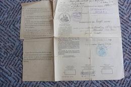 PERMISSION DU FRONT - 20 JOURS - 208ème RÉGIMENT D'ARTILLERIE - 22EME S.M.A. - 1919 - Historical Documents