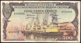 Belgian Congo 500 Francs 1957 P-34a.2 AVF Banknote - Congo
