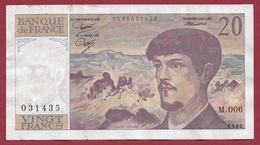 "20 Francs ""Debussy"" 1980--TTB+---ALPH--M.006 - 20 F 1980-1997 ''Debussy''"