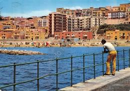 Cartolina Gela Spiaggia Animata 1978 - Caltanissetta