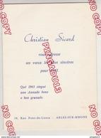 Au Plus Rapide Carte De Voeux Année 1963 Christian Sicard Arles Sur Rhône Provence Musique Tambourinaire - Cartes