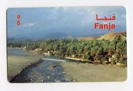 OMAN CARTE Prépayée ALPHA CARD FANJA - Oman