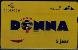 BELGIUM 1998 PHONECARD RADIO DONNA USED VF!! - Zonder Chip