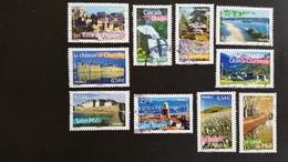 France Timbres Oblitérés - Série Complète  N°4014 à 4023 Année 2007  Portraits De Régions La France à Voir - Francia