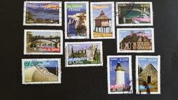 France Timbres Oblitérés - Série Complète  N°3814 à 3823 - Année 2005 -  Portraits De Régions, La France à Vivre - Francia