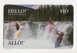 CANADA Recharge AGT HELLO 10$ SPORT CANOE KAYAK Date 02/1997 - Canada