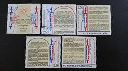 France Timbres Oblitérés - Série Complète  N° 2602 à 2605 - Année 1989 -  Déclaration Des Droits De L'Homme - Francia