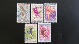 France Timbres Oblitérés - Série Complète  N° 1543 à 1547 - Année 1968 -  Jeux Olympiques D'hiver Grenoble - Francia