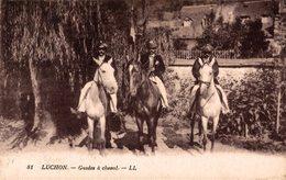 16491      LUCHON  GUIDES A CHEVAL - Luchon
