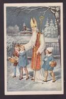 CPA Saint Nicolas Père Noël Santa Claus Nicolo écrite - San Nicolás