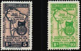 Bolivia 1948 * Light Hinge CEFIBOL 494-495. Automovilismo. Carrera Internacional Buenos Aires Caracas, - Bolivië