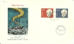 Norge Norway 1961 Fridtjof Nansen (1861-1930), Norwegian Polar Explorer, Zoologist, Oceanographer , Mi 460-461, FDC - Briefe U. Dokumente