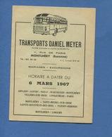 Essonne Montlhéry Transports Daniel MEYER Autobus Bus Autocar Car  Marcoussis Limours Nozay Villiers Dépliant  Horaires - Montlhery