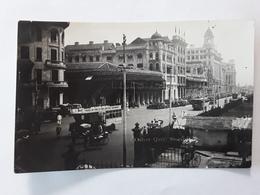 FOTOKAART 1934 COLLYER QUAY MET TRAM  AVEC TRAM - Singapur
