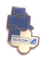 X113 Pin's France Telecom Villefranche Sur Saône Tarare L'Arbresle Département Rhone Loire Achat Immédiat - France Telecom
