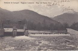 DINTORNI DI COURGNE (TORINO) - REGIONE CAMPORE - DIGA SUL FIUME ORCA - VIAGGIATA 1937 - Italia