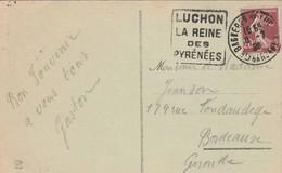 Yvert 139 Semeuse Cachet Flamme DAGUIN  La Reine Des Pyrénées LUCHON Haute Garonne 8/7/1925 - Sellado Mecánica (Otros)