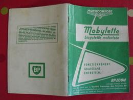 Livret Entretien Mobylette Motoconfort Bicyclette Motorisée BP-zoom. 1971 - Moto