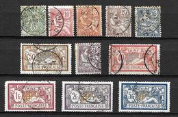 Série Complète Oblitéré 1902-06 Yvert 23/33  Cat. 238.00 Euros - Usati