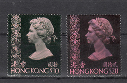 Hong Kong 1973 Mi Nr  280 + 281 , Gestempeld, Koningin Elisabeth II - Hong Kong (...-1997)