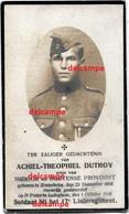 Oorlog Guerre Achiel Duthoy Zonnebeke Soldaat Gesneuveld Te Ledegem 1 Oktober 1918 Passendale Beselare Geluveldt - Images Religieuses