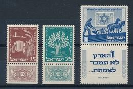 DP-15: ISRAEL: Lot Avec N°46/48* AVEC TABS   N°48: Pli Dans Tab) - Israel