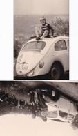 VW Coccinelle Lot De 2  Photos 12.5 X 9 - Non Classificati