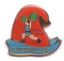 AA142 Pin's Haltérophilie Muscle Club De Guebwiller Alsace CAU Achat Immédiat - Gewichtheben