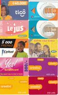 20 Cartes Prépayées Afrique Lot2 - Télécartes