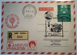 Österreich BALLONPOST SELTENE Pro Juventute Ganzsache ESPERANTO 20g HALLEIN 1971 #46c(Ballon Monté Balloon Mail Austria - Ballonpost