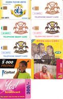 9 Télécartes OUGANDA Lot1 - Ouganda