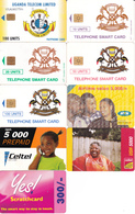 9 Télécartes OUGANDA Lot1 - Uganda