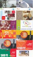 12 Cartes Prépayées TUNISIE Lot1 - Tunesien