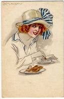GIOVANE DONNA - JEUNE FEMME - MAUZAN - 1918 - Vedi Retro - Formato Piccolo - Mauzan, L.A.