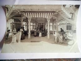 PHOTO ALBUMINE FIN 19 EME BAGNOLES DE L' ORNE LES THERMES  Format 12 / 18.5 CMS PAPIER MINCE - Old (before 1900)