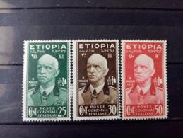 ETHIOPIE.1936.N° 3.4.5. Effigie De Victor Emmanuel III. NEUFS+ Côte Yvert 16 €. - Ethiopia