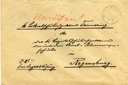 (Lo4186) Brief DR St. Taimering N. Regensburg - Cartas