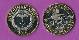 Farquhar Atol - 1 Dollar - 2016- Bimetal- Turtle - Monedas