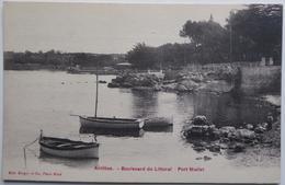 Antibes. - Boulevard Du Littotal - Port Mallet - CPA Peu Fréquente 1911 - Autres
