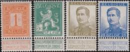 Belgie    .    OBP     .   4 Timbres     .     **      .    Postfris  .   /   .   Neuf SANS Charnière - 1912 Pellens