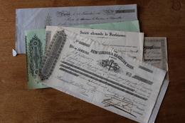 Beaux Billet De Confiance XIX Illustrés  Dont Bank Of Rio De Janeiro  Pour Noblesse - Münzen & Banknoten