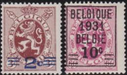 Belgie    .    OBP     .    315/316       .     **      .    Postfris  .   /   .   Neuf SANS Charnière - Belgique
