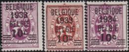 Belgie    .    OBP     .    375/375A/376      .     **      .    Postfris  .   /   .   Neuf SANS Charnière - Belgique