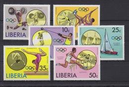 Liberia 990-995 ** Postfrisch Olympia 1976, Liberia MNH #U713 - Liberia